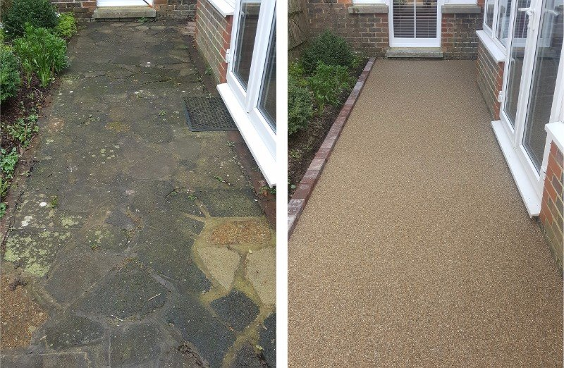 Sudwell trade and home kits resin bonded driveways resin beforeandafter31250g solutioingenieria Images
