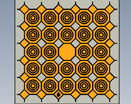 Exterior Floor Tiles Design CAD